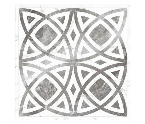 Декоративные элементы /Керамогранит/ KERRANOVA / КЕРРАНОВА BLACK & WHITE Панно Белое / White лаппатированное