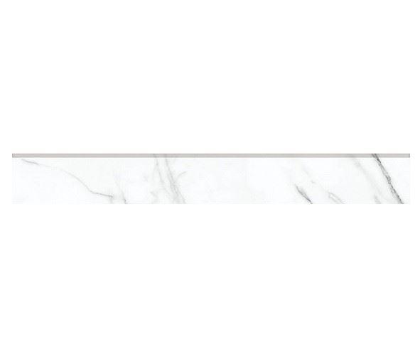 Плинтус KERRANOVA / КЕРРАНОВА BLACK & WHITE Плинтус White / Белый лаппатированный