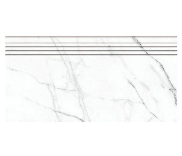 Ступени KERRANOVA / КЕРРАНОВА BLACK & WHITE Ступень White / белая лаппатированная