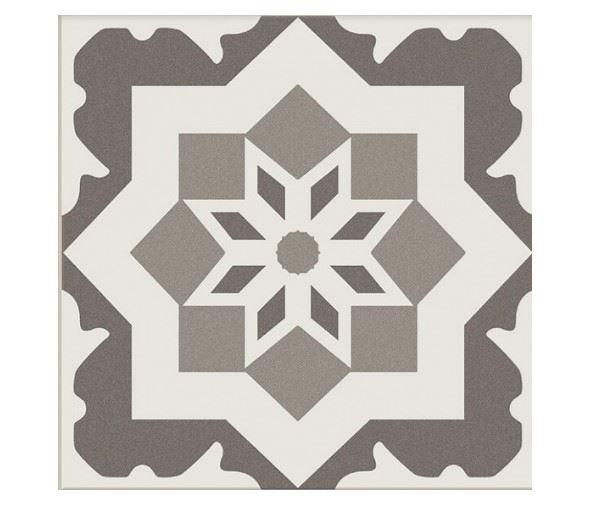 Декоративные элементы для пола CERAMICA RIBESALBES ANTIGUA Decor Gris (16 видов паттерна)