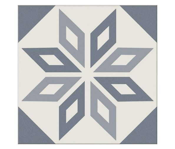 Декоративные элементы для пола CERAMICA RIBESALBES ANTIGUA Decor Azul (16 видов паттерна)