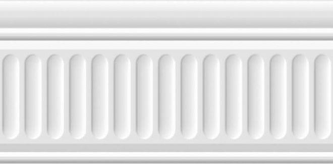 Бордюр Бланше белый структурированный