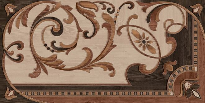 Гранд Вуд декорированный левый обрезной